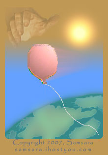 I envision releasing my problem or source of pain as a balloon that I finally release for God to take care of.